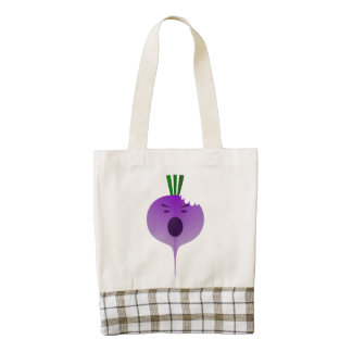 Bite The Angry Turnip Zazzle HEART Tote Bag