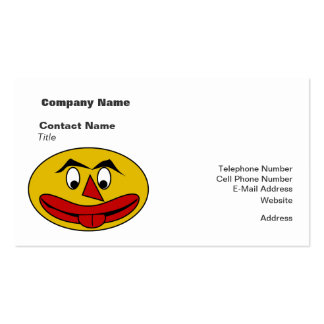 Bite Your Tongue Funny Yellow Face Business Card Template