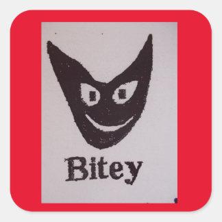 Bitey Cat Square Sticker