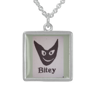 Bitey Cat Sterling Silver Necklace