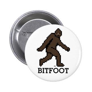 Bitfoot (el Bigfoot de 8 bits) Pin Redondo 5 Cm
