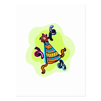 Bithday party hat postcard
