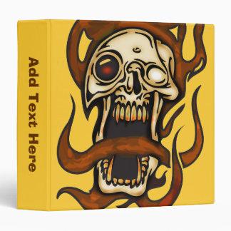 Biting Cyborg Skull 3 Ring Binder