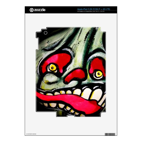Biting Scream Skin For iPad 3