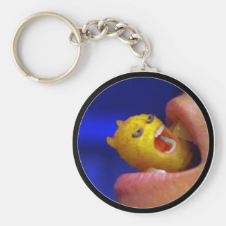 Biting Tater Tot Basic Round Button Keychain