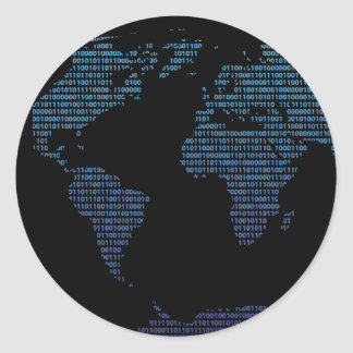 Bitmap Classic Round Sticker