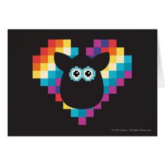 Bitmap Furby Heart Card