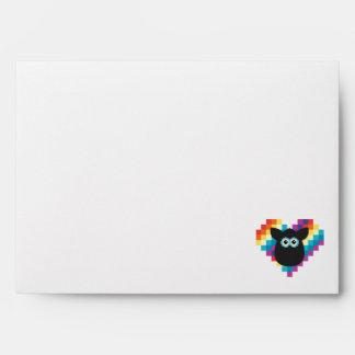 Bitmap Furby Heart Envelope