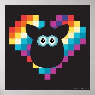 Bitmap Furby Heart Poster