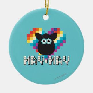 Bitmap Furby: May-May Ceramic Ornament