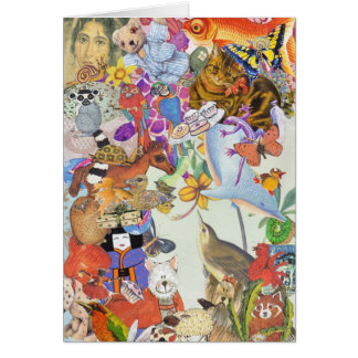 Bits & Bobs Collage 2 greeting card