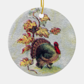 Bits of Autumn Vintage Thanksgiving Ceramic Ornament
