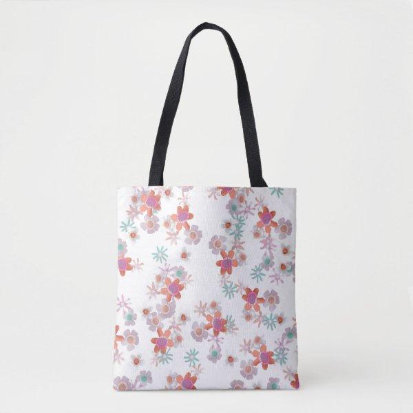 Bits of Flowers Tote Bag