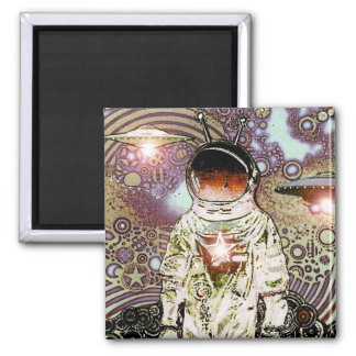 Bits of SpaCe - Astronaut V MagNEAT-O 2 Inch Square Magnet