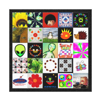 Bits Of Whimsy Digital Quilt Canvas Print
