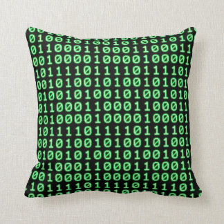Bits pattern throw pillow