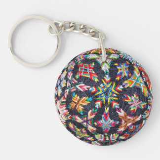 Bits Sakasa Temari Keychain, Acrylic