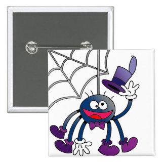 Bitsy Spider 2 Inch Square Button