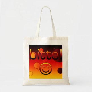 Bitte! German Flag Colors Pop Art Tote Bag