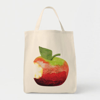 Bitten Apple Grocery Tote Bag