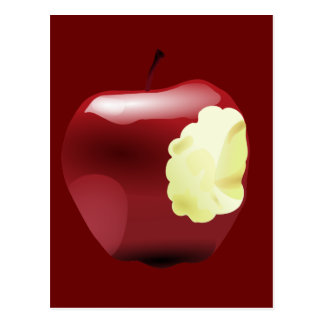 Bitten Apple Postcard