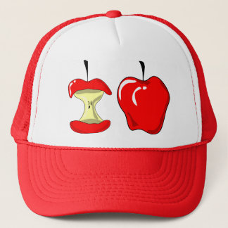 Bitten apple trucker hat