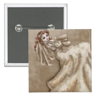 Bitten Bride Pinback Button