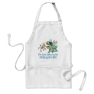 Bitten By The Genealogy Bug Adult Apron