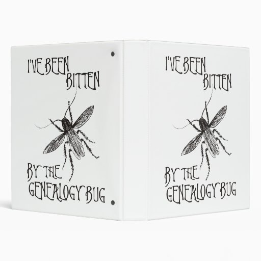 Bitten By The Genealogy Bug 3 Ring Binders