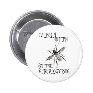 Bitten By The Genealogy Bug Buttons