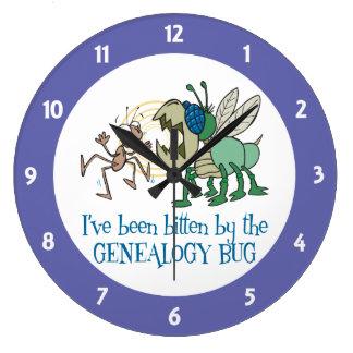 Bitten by the Genealogy Bug Round Clock