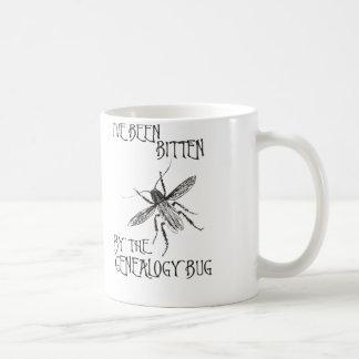 Bitten By The Genealogy Bug Coffee Mugs