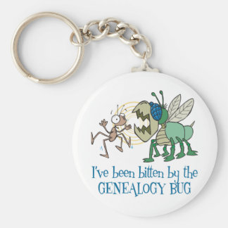 Bitten By The Genealogy Bug Keychain