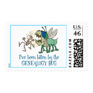 Bitten By The Genealogy Bug Postage