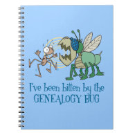 Bitten By The Genealogy Bug Spiral Note Book