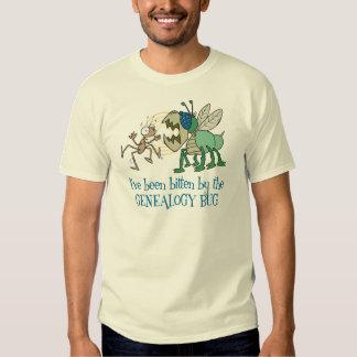 Bitten By The Genealogy Bug Tee Shirts