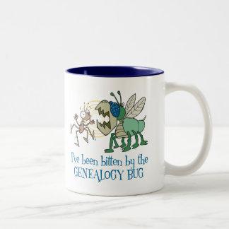 Bitten By The Genealogy Bug Two-Tone Coffee Mug