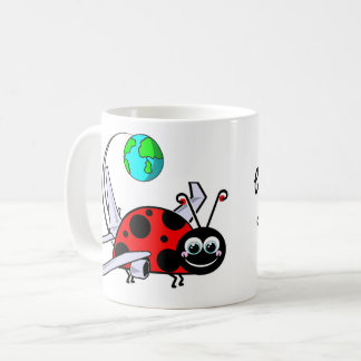 Bitten By The Travel Bug - Ladybug Airplane Coffee Mug