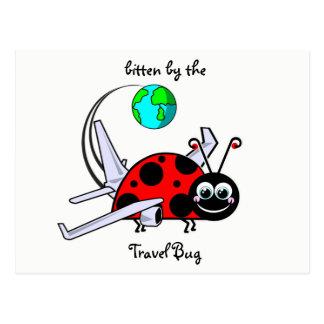 Bitten By The Travel Bug - Ladybug Airplane Postcard