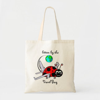 Bitten By The Travel Bug - Ladybug Airplane Tote Bag