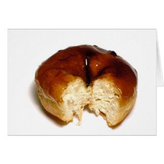 Bitten donut greeting card
