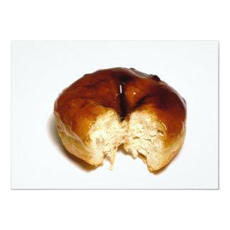 Bitten donut 5x7 paper invitation card