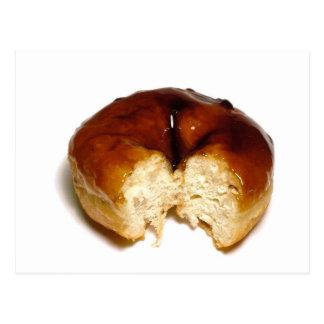 Bitten donut postcard