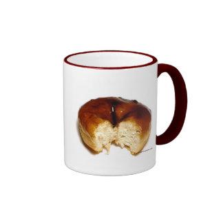 Bitten donut ringer coffee mug