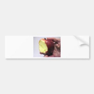 Bitten Red Apple Bumper Sticker