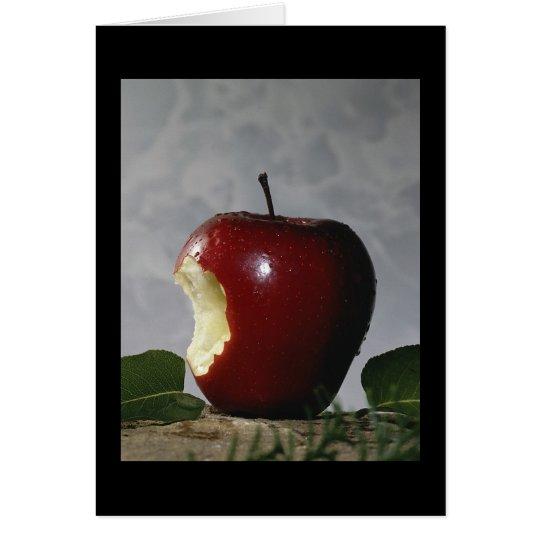 Bitten Red Apple Card