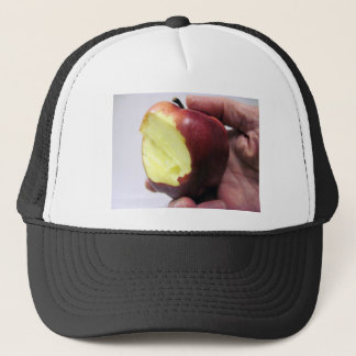 Bitten Red Apple Trucker Hat