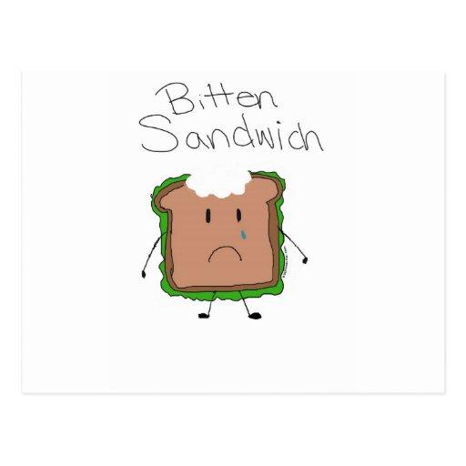Bitten Sandwich by Kolohe Kristin Postcard