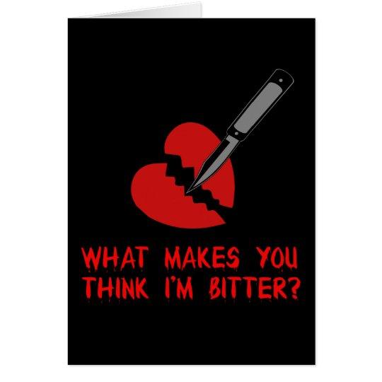 Bitter Anti-Valentine Card