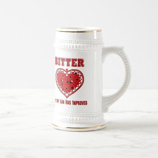Bitter Bullet Heart Beer Stein